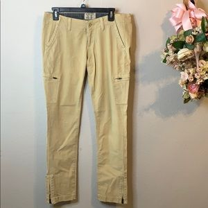 Women's Lucky Brand Zippered Cargo Khaki Pants